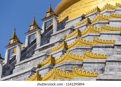 Mahazedi pagoda at Bago, in Myanmar