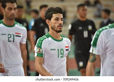MAHDI KAMIL of IRAQ in action during the 2018 FIFA World Cup Asian Qualifiers Match Thailand and Iraq at Rajamangala Stadium on August 31,2017 in BANGKOK,Thailand.