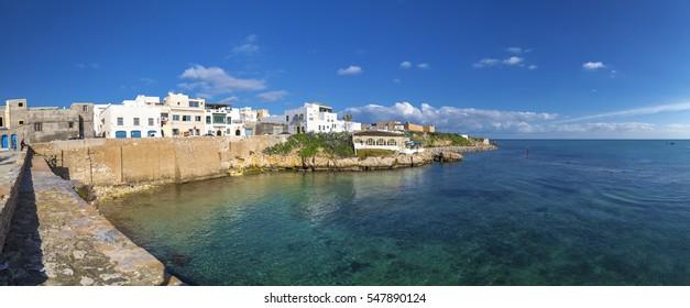 Mahdia, Tunisia - December 25, 2016: View from the coastal town of Mahdia