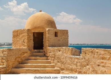 MAHDIA / TUNISIA - JUNE 2015: Bordj el Kebir Fortress in Mahdia, Tunisia