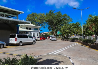 MAHE, SEYCHELLES - SEPTEMBER 16 2017: Seychelles International Airport at Mahe island near Victoria City. Seychelles