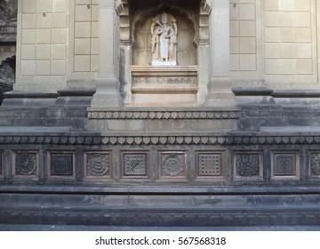 The MaheshwarTemple of lord Shiva is a testament to the splendid architectural skills of the Maratha workmen situated at bank of river Narmada in Rani Ahilyabai Holkar Fort, Madhya Pradesh, India