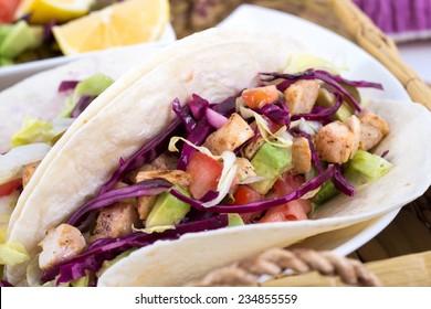 mahi mahi fish soft taco