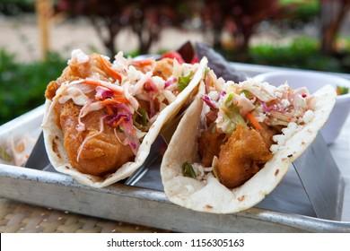 Mahi Mahi Fish Tacos with Slaw