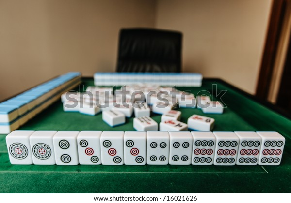 Mahjong Board Game Pieces Lying On Stock Photo Edit Now