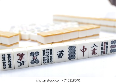 Mahjong on white background