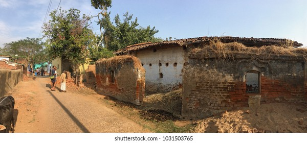 Mahjori village / Rural India Dhanbad / Jharkhand state of India / at Jharkhand / India date clicked  10 February 2018 Old village house now ruined with time