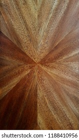 mahogany  veneer centered pattern
