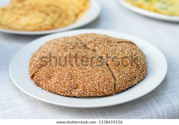 Mahrash traditional marocan bread.