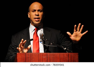 MAHWAH, NJ-MAY 3: The Honorable Cory Booker, Mayor City of Newark, speaks at the Russ Berrie Awards for Making A Difference Celebration on May 3, 2011 at Ramapo College of New Jersey.
