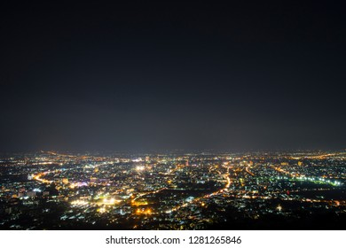 ฺChiang Mai cityscape taking at viewpoint on the mountain