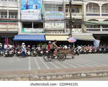 MAI SAI, THAILAND—MARCH 2018: Typical day in Mai Sai, the last city bordering Thailand and Myanmar.