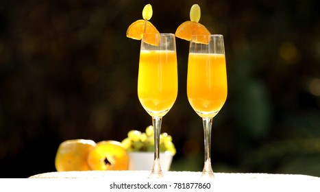 Maidenly mimosa is a non-alcoholic drink which is made orange and grapes. This is a very good alternative for non-drinkers.