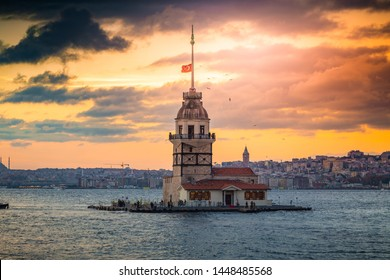 Maiden's Tower and Istanbul, one of Turkey's most important and most valuable architectural icon