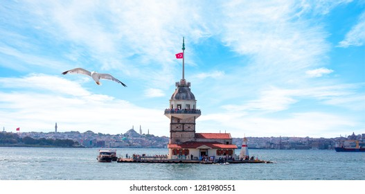 The Maiden's Tower (kiz kulesi) -Istanbul, Turkey