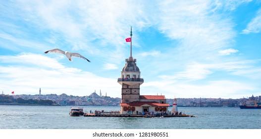 Der Maiden's Tower (kiz kulesi) - Istanbul, Türkei