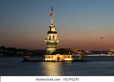 Maiden's tower. Kiz Kulesi. Istanbul symbol.