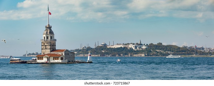 Maiden's Tower and Old Town in Istanbul