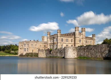 MAIDSTONE, UK: 5th of May 2014:Leeds castle on 5th of May 2014 in MAIDSTONE, UK (Kent district) - long exposure