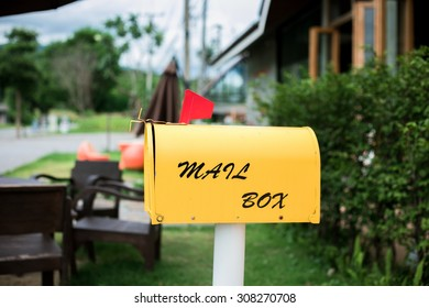 Mail box at coffee shop