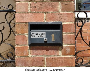 Mail box with no junk mail sign