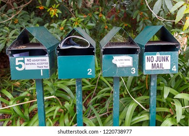 Mail Boxes - No Junk Mail