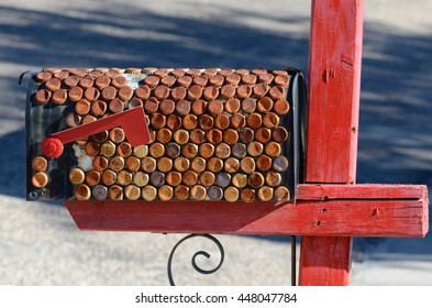 Mailbox with Bottle Tops