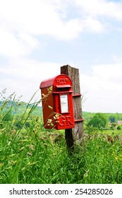 Mailbox in English countryside of Cotswolds