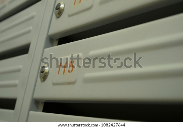 Mailbox Entrance Hall Apartment Building Stock Photo (Edit ...