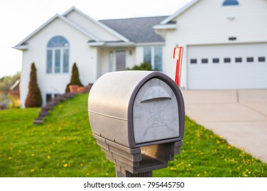 Mailbox in front of the American house