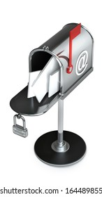 Mailbox isolated on white background High resolution 3d