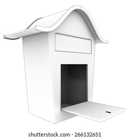 Mailbox. Isolated on White Background. 3d