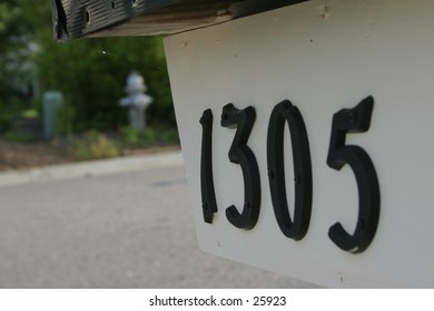 Mailbox numbers.