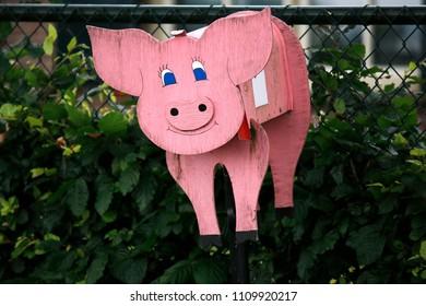 Mailbox at a pig farm