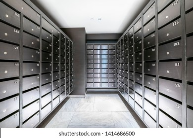 Mailbox room in a condominium