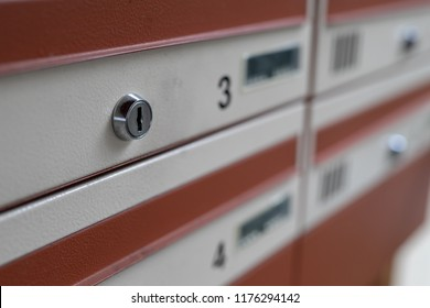 Mailbox for several residents. A place for correspondence in the stairwell. Place - multi-family house.