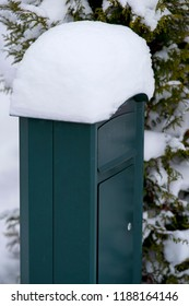 Mailbox with snow on top