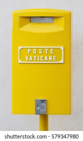A mailbox at the Vatican Post Office at Vatican City in Rome, Italy