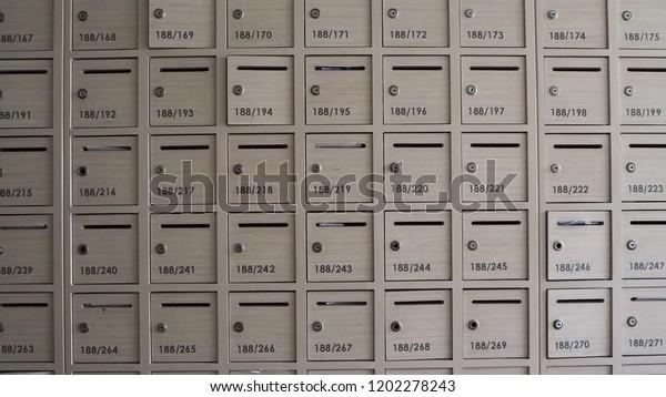 Mailboxes Apartment Building Stock Photo (Edit Now) 1202278243