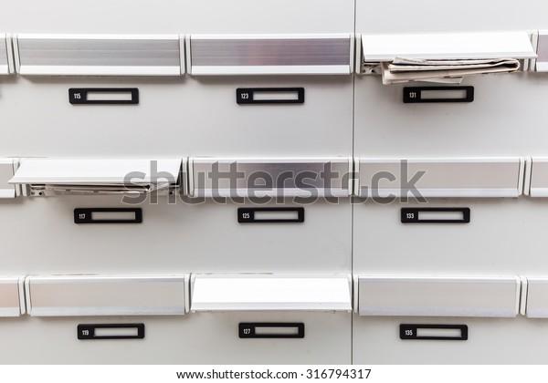 Mailboxes Apartment Building Stock Photo (Edit Now) 316794317
