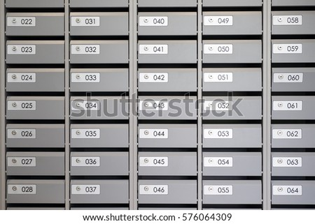 Mailboxes Apartment Numbers Apartments Stock Photo (Edit Now ...