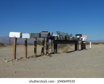 Mailboxes just near Joshua Tree National Park in California - USA