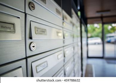 Mailboxes and Lock in Rows at Entrance