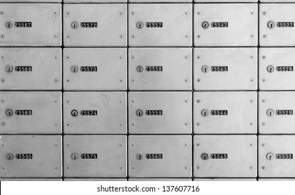 Mailboxes (lockers) at a post office