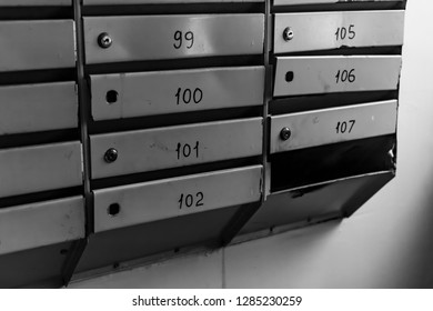 mailboxes in a residential building
