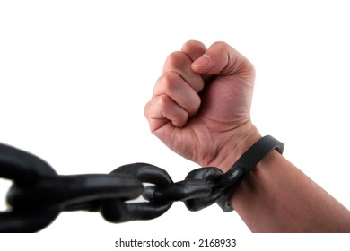Maile Hand with Fist Chained to Linked Cuffs