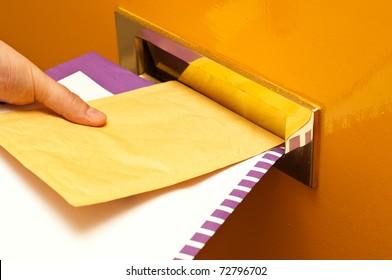 Mailman putting mail in a mailslot