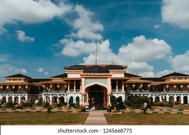 Maimun Palace during sunny day in Medan