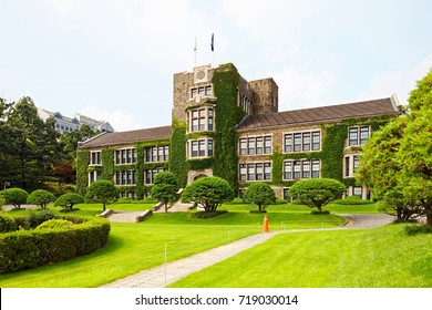 Main administrative building of prestigious Yonsei University - Seoul, South Korea