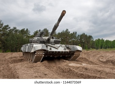 main battle tank stock photo